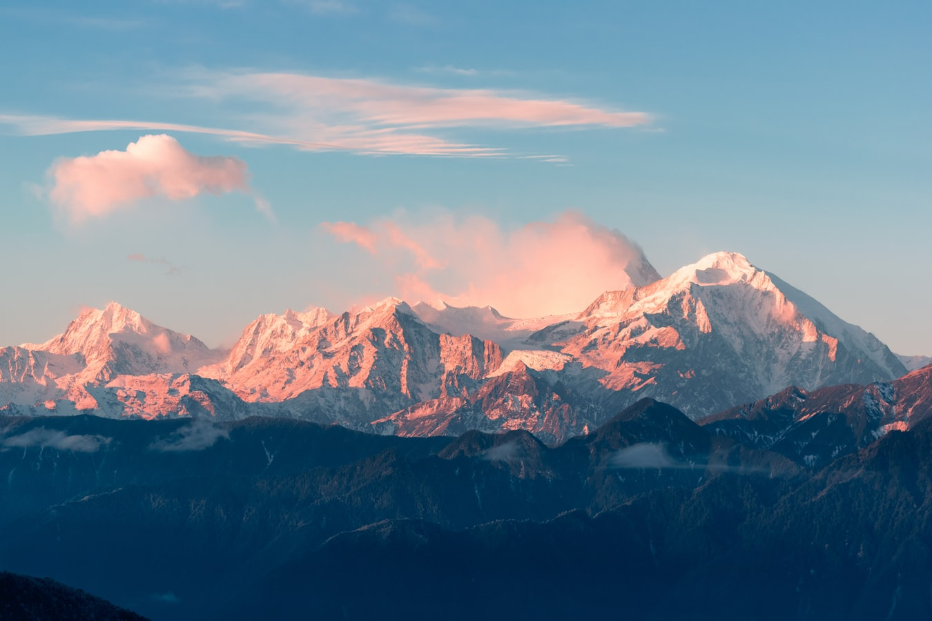 A large mountain range
